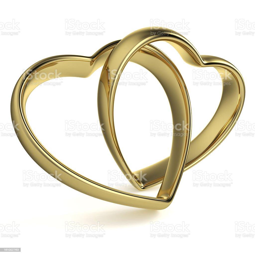 Heart-Shaped Wedding Rings royalty-free stock photo