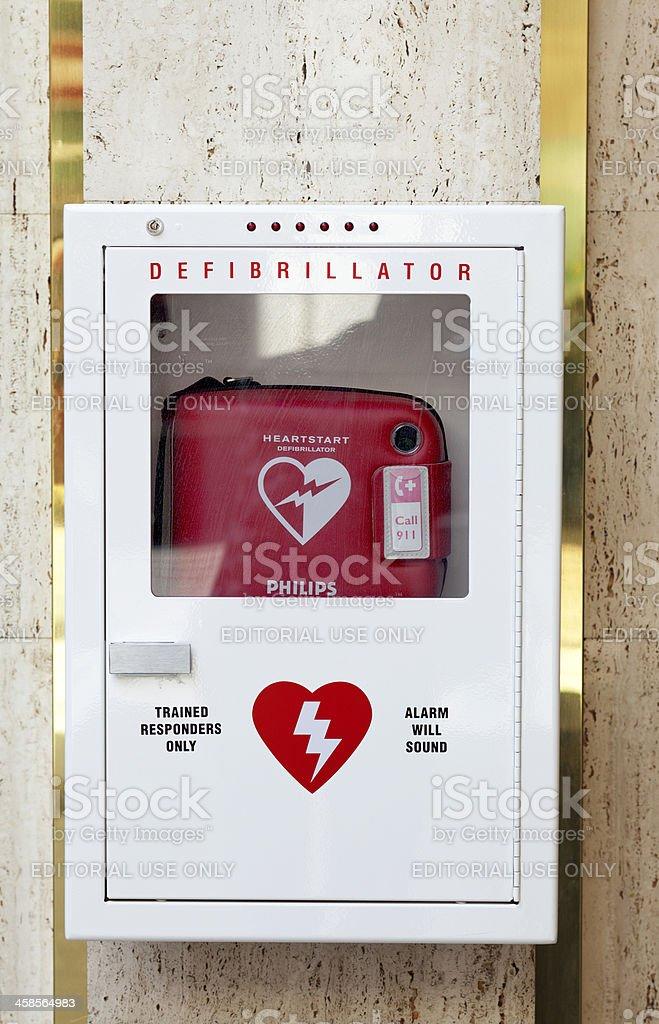 HeartStart Automated External Defibrillator (AED) royalty-free stock photo
