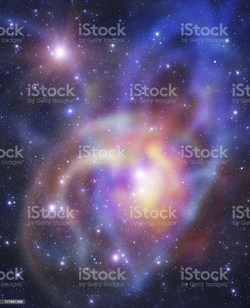 Heart-style galaxy royalty-free stock photo