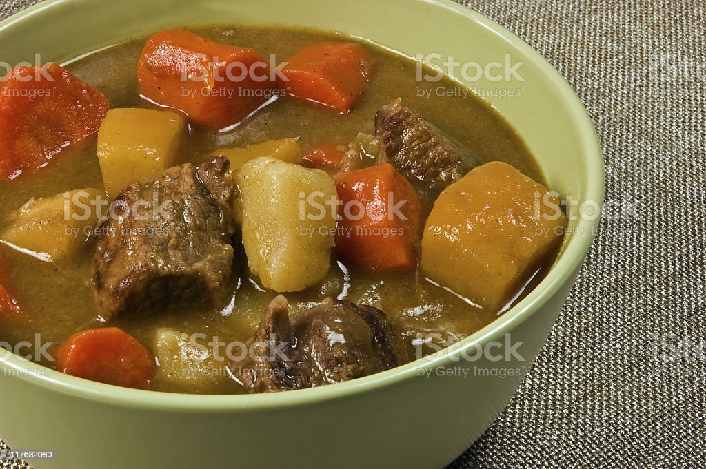 Hearty beef stew royalty-free stock photo