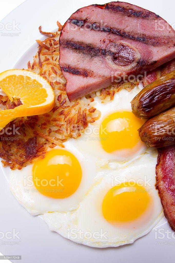 Hearty Breakfast royalty-free stock photo