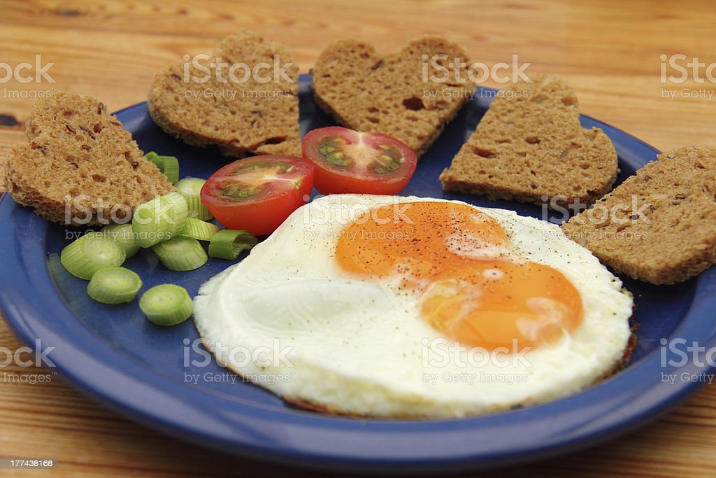 hearty plate royalty-free stock photo