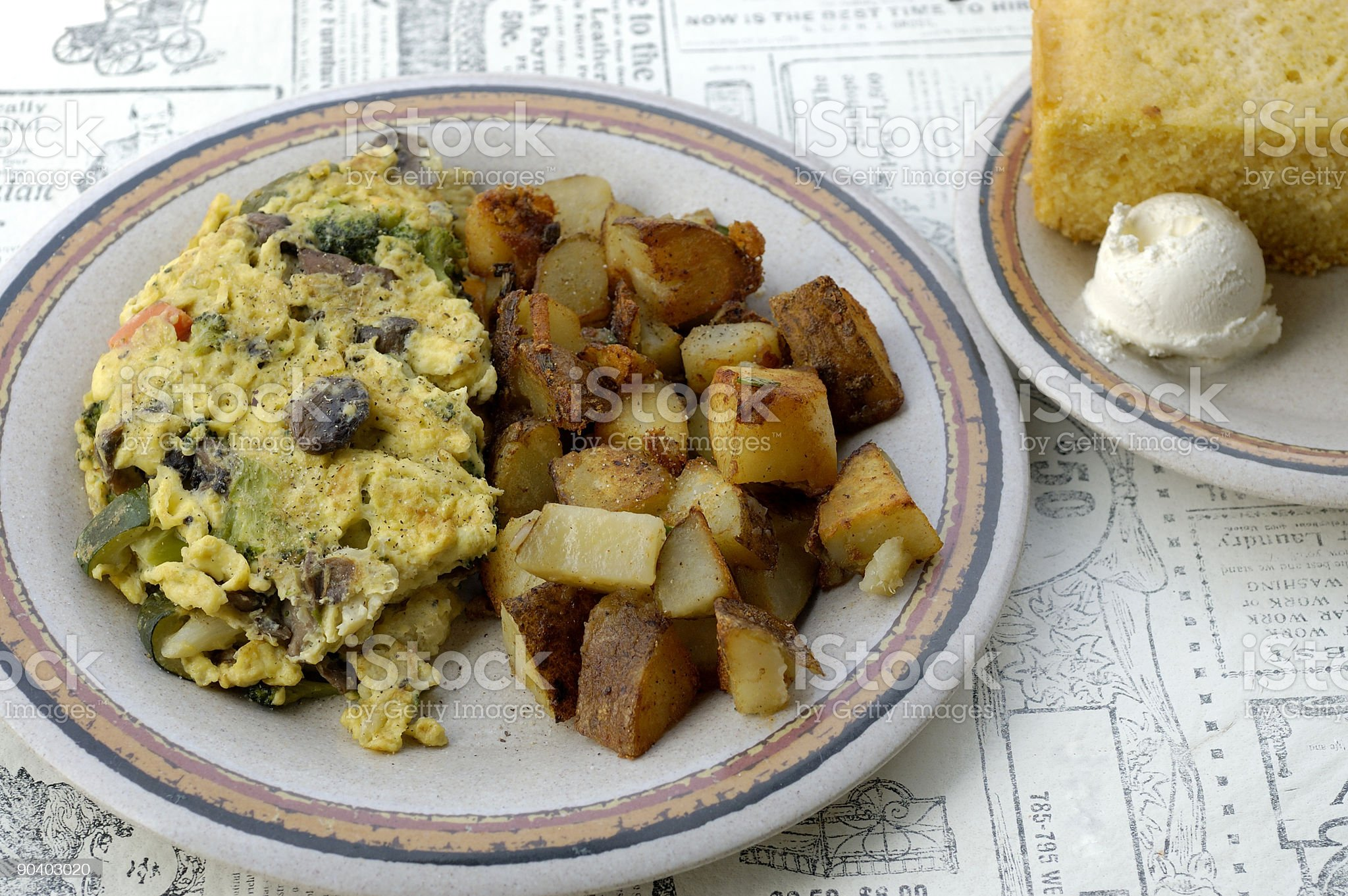 Hearty Southern Breakfast royalty-free stock photo