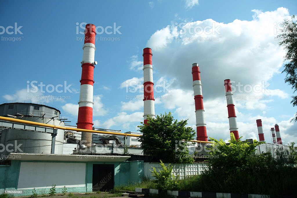 heat electropower station stock photo
