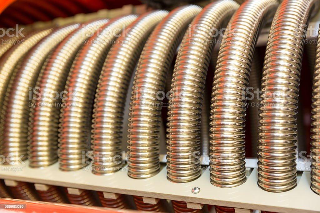 Heat exchanger device stock photo