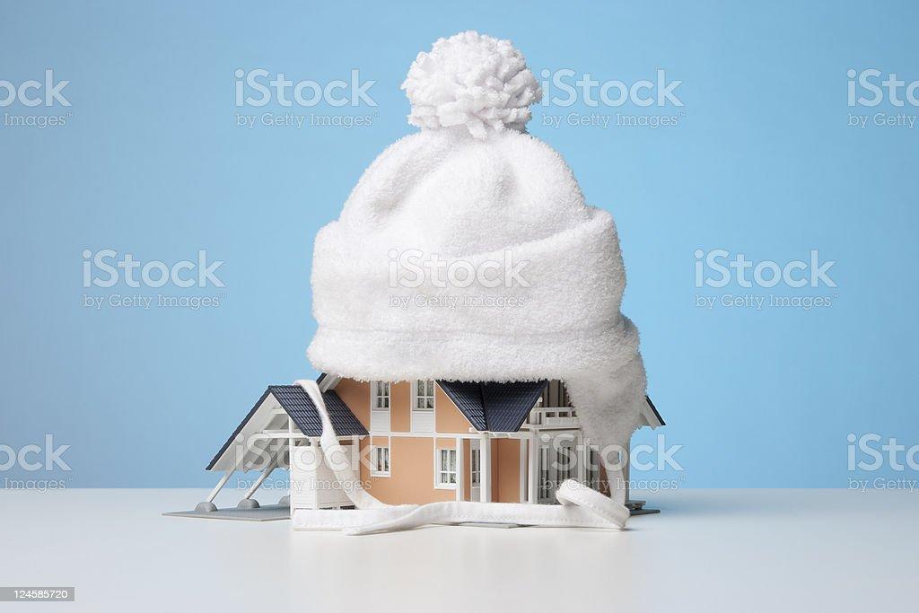 Heat insulation of house stock photo