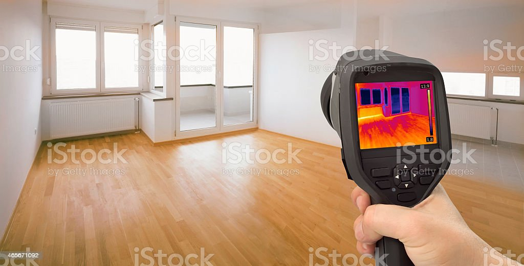 Heat Leak Detection stock photo
