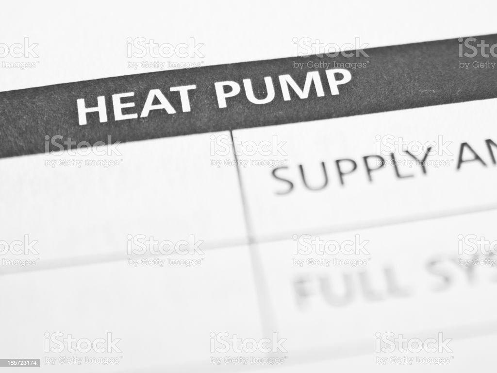 Heat pump royalty-free stock photo