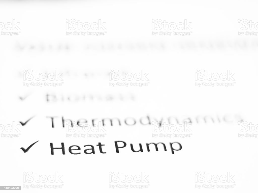 Heat Pump stock photo