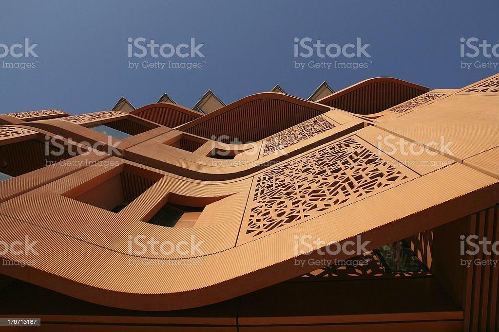 Heat reflective facade in Masdar City royalty-free stock photo