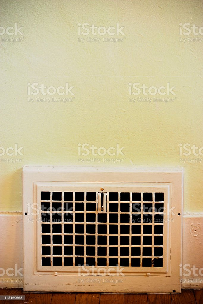 Heat Vent in the Wall royalty-free stock photo