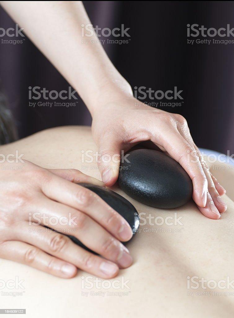 Heated Stone Massage royalty-free stock photo