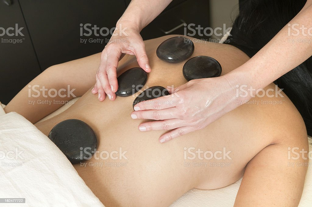 Heated Stone Massage - Series royalty-free stock photo