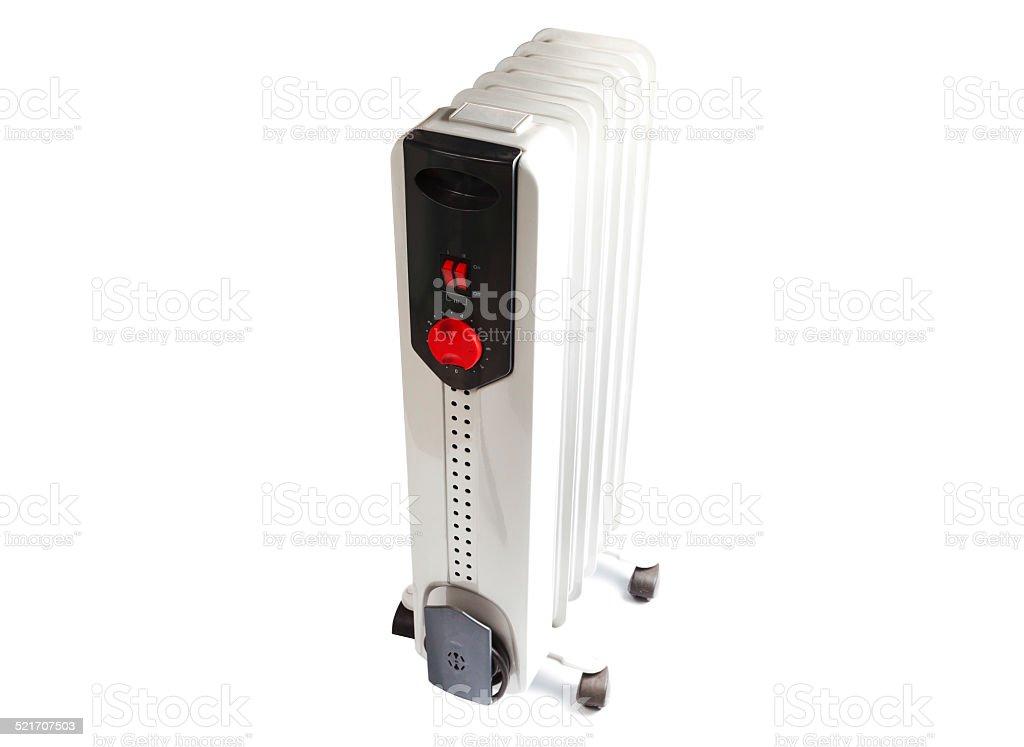 heater isolated on white background stock photo