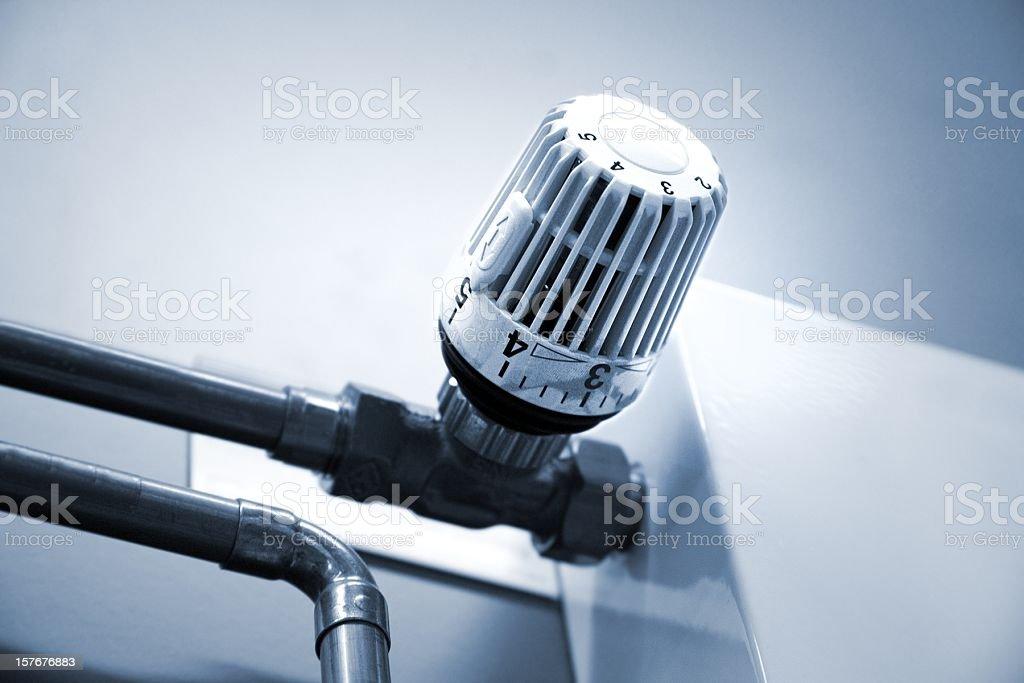 Heater thermostat stock photo