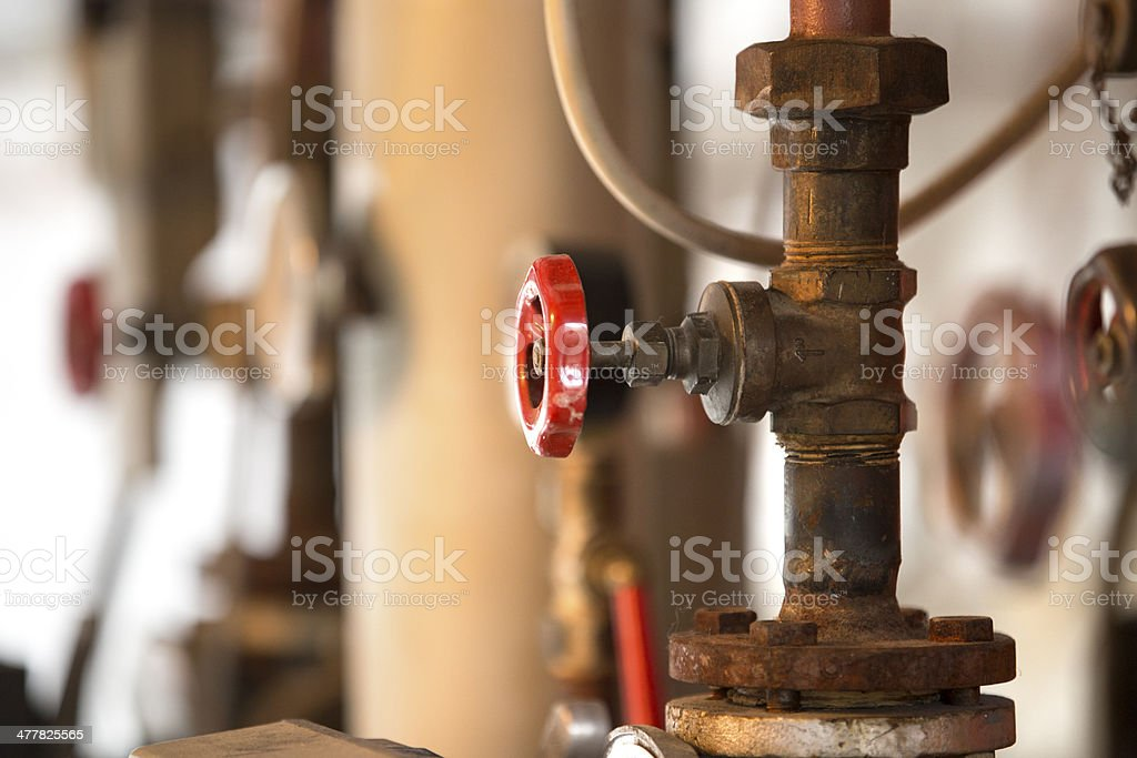 Heater tube connection stock photo