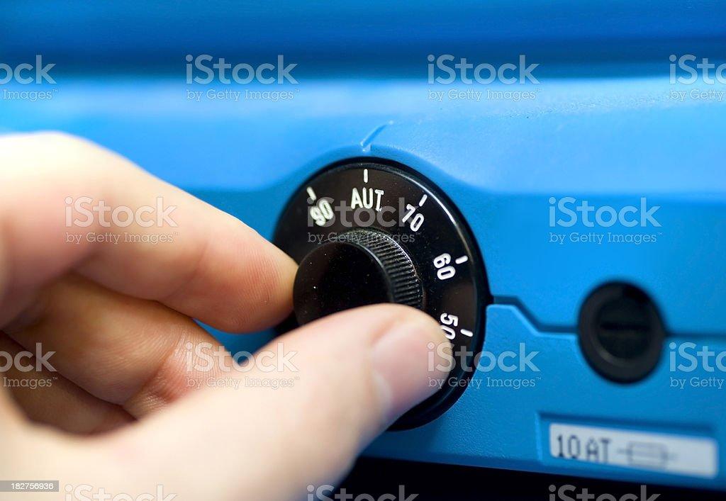 heater - Zentralheizung einstellen stock photo