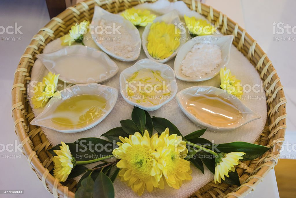 Heath spa and flower stock photo