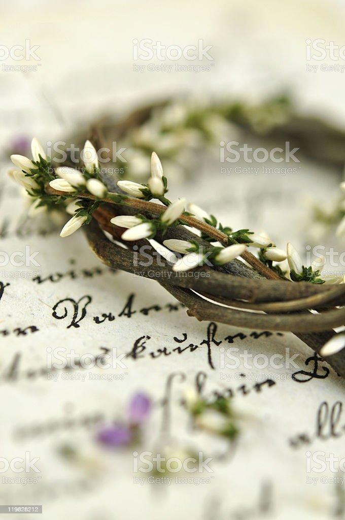 Heather Wreath royalty-free stock photo