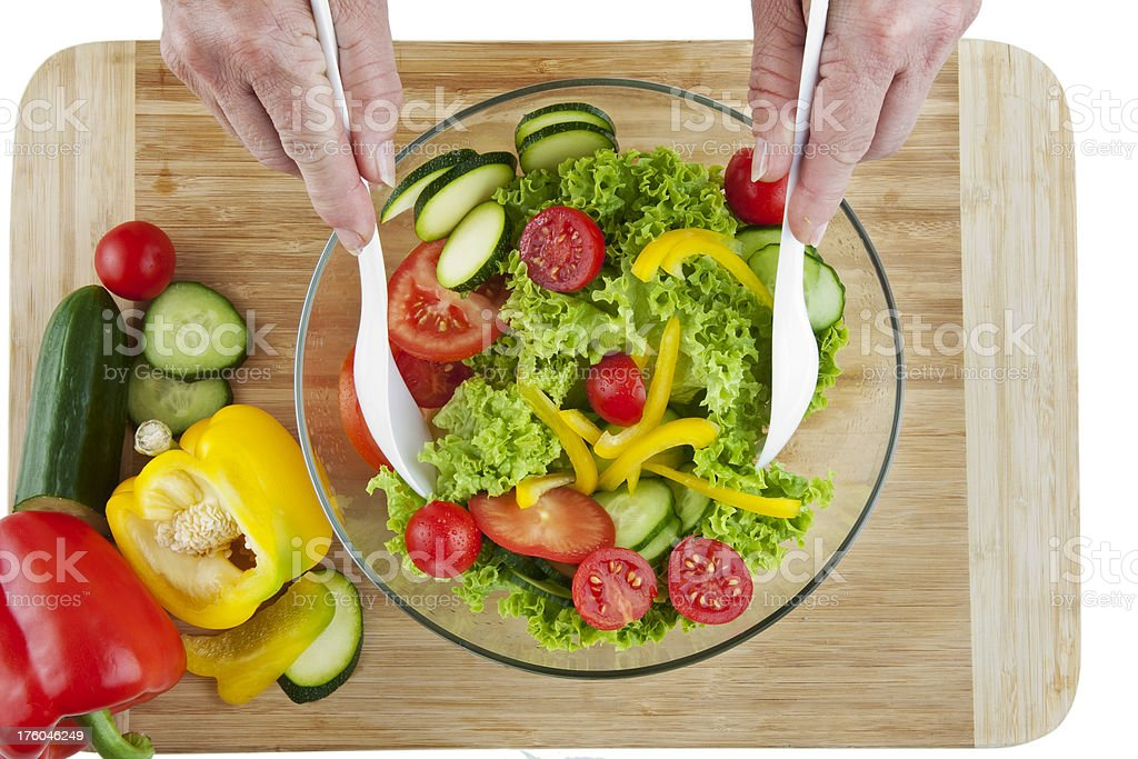 Heathly Salad royalty-free stock photo