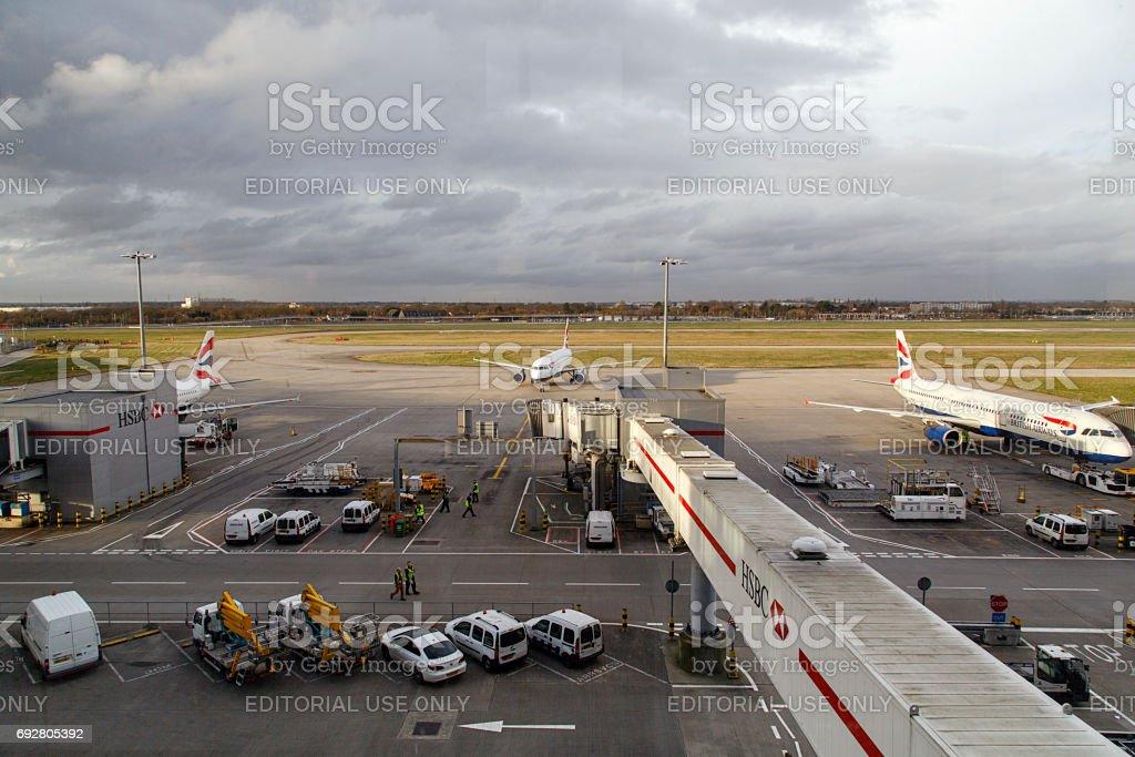 Heathrow Airport stock photo