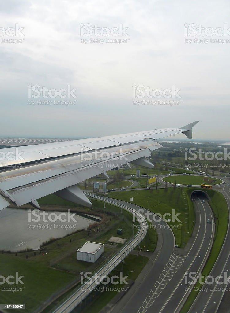 Heathrow landing stock photo