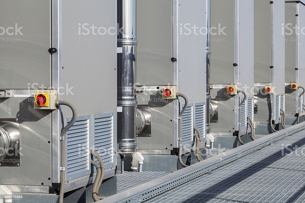 Heating and cooling system royalty-free stock photo