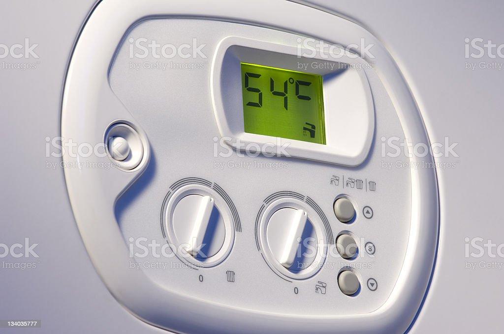 Heating boiler control panel royalty-free stock photo