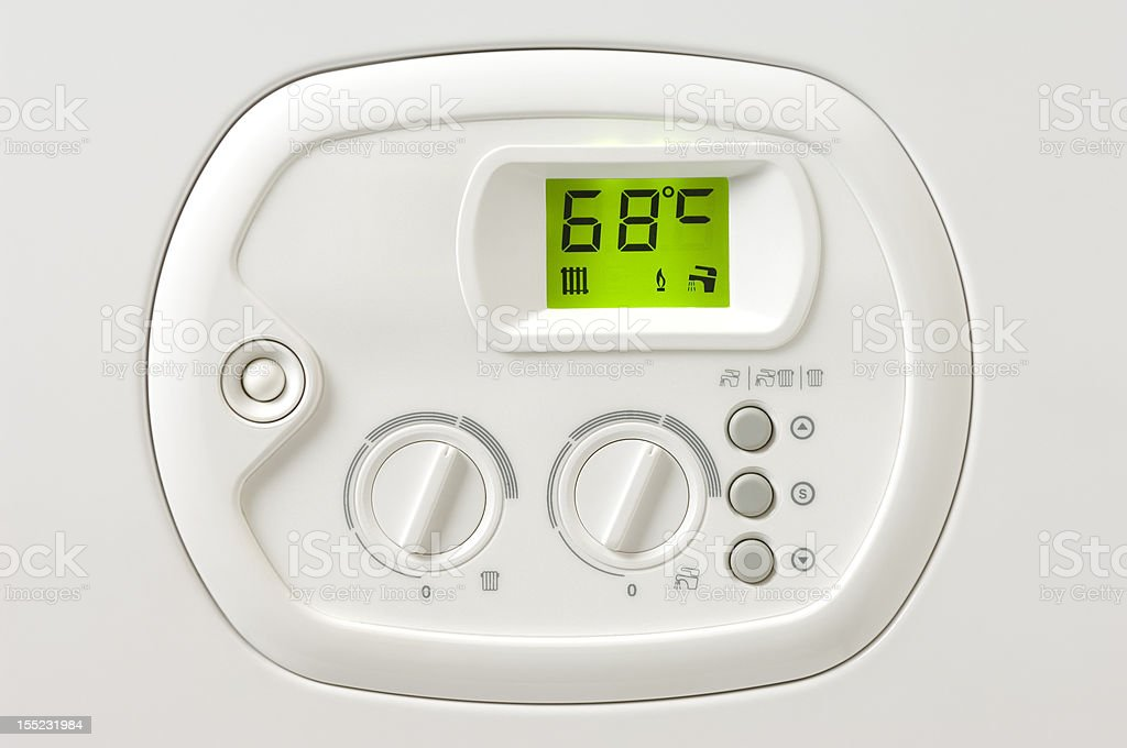 Heating boiler control panel royalty-free stock photo
