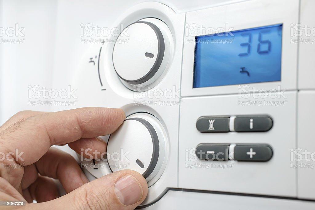 Heating boiler royalty-free stock photo