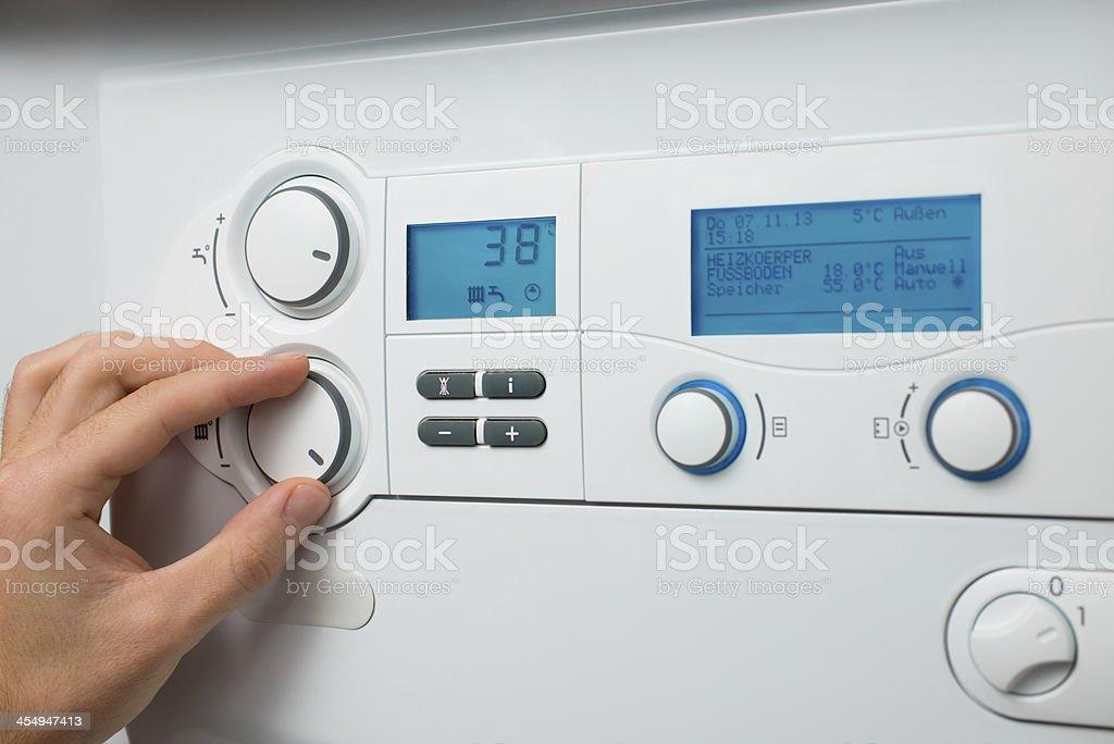 Heating boiler stock photo