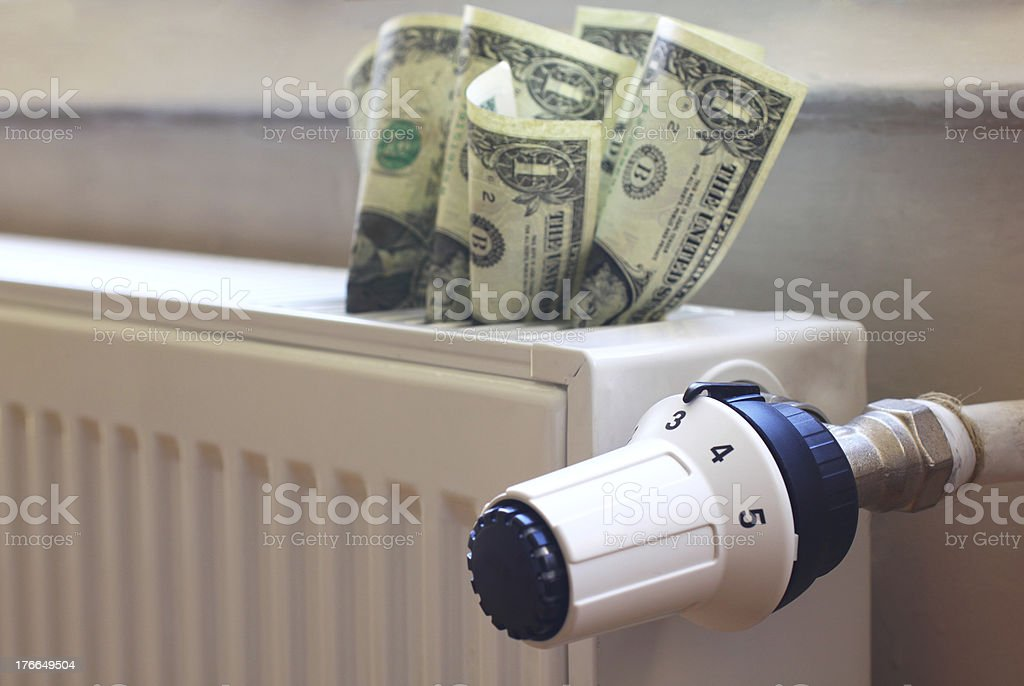 Heating costs royalty-free stock photo