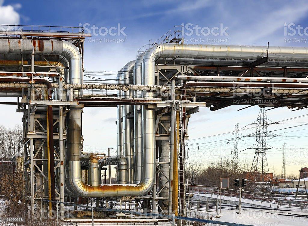 heating main stock photo