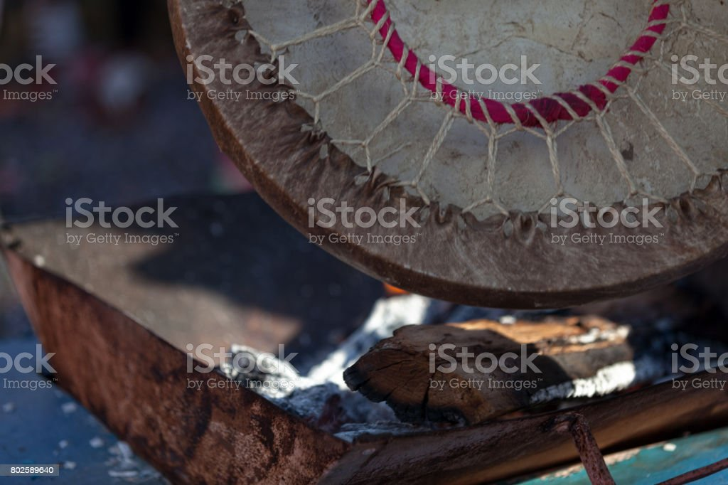 Heating of the drum stock photo