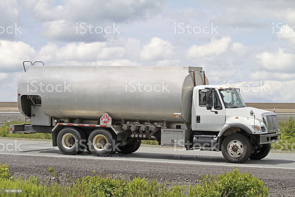 Heating Oil Delivery Truck stock photo