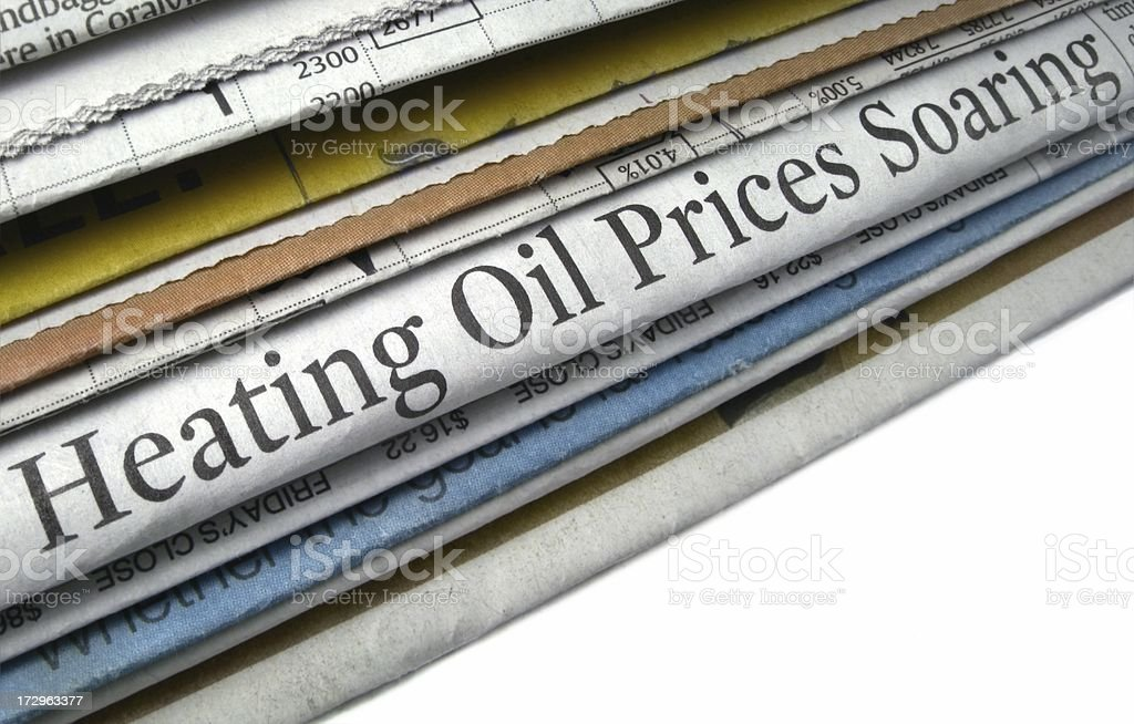 Heating Oil Prices royalty-free stock photo