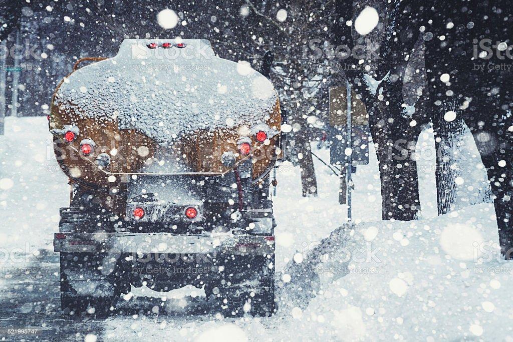 Heating Oil Truck stock photo