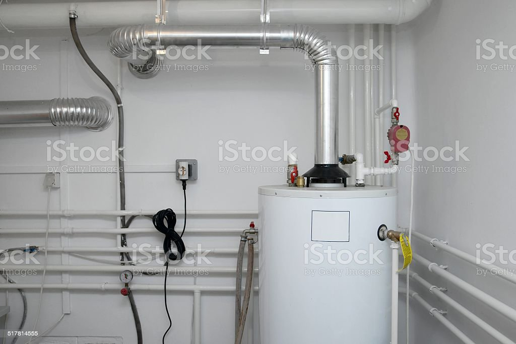 Heating Pipes stock photo