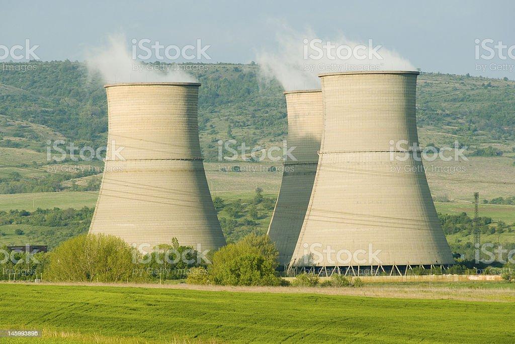 Heating plant 'Bobov Dol', Bulgaria. stock photo