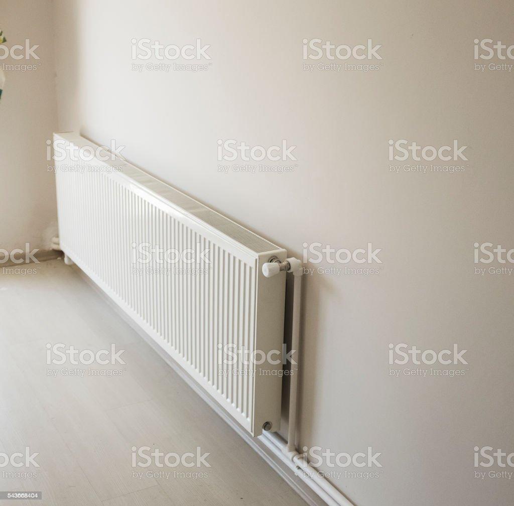 Heating Radiator of an Apartment stock photo