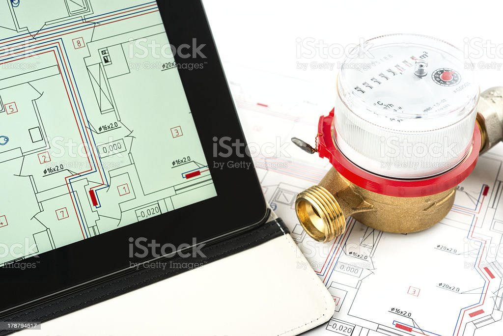 heating system development royalty-free stock photo