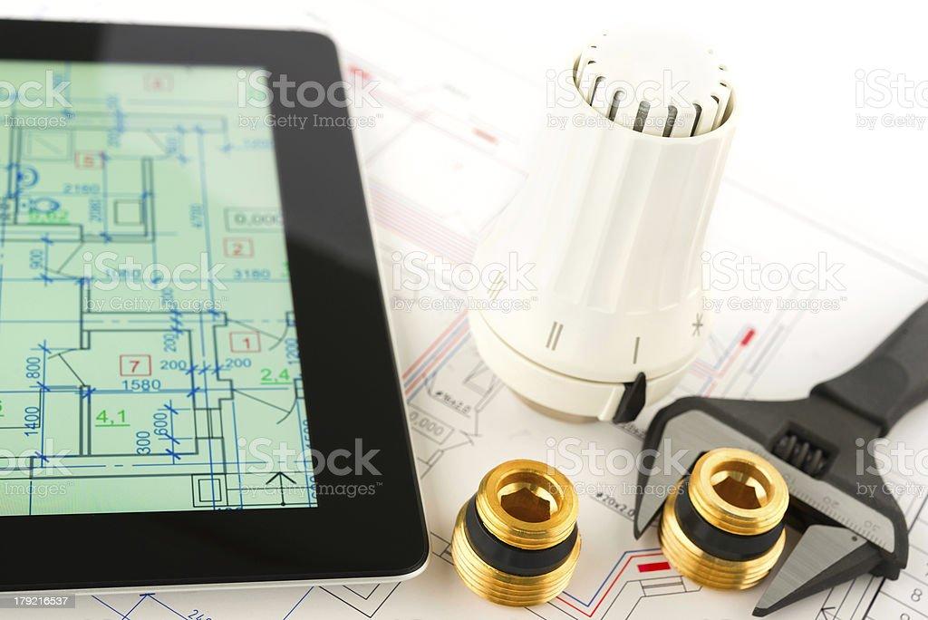 heating system development royalty-free stock photo