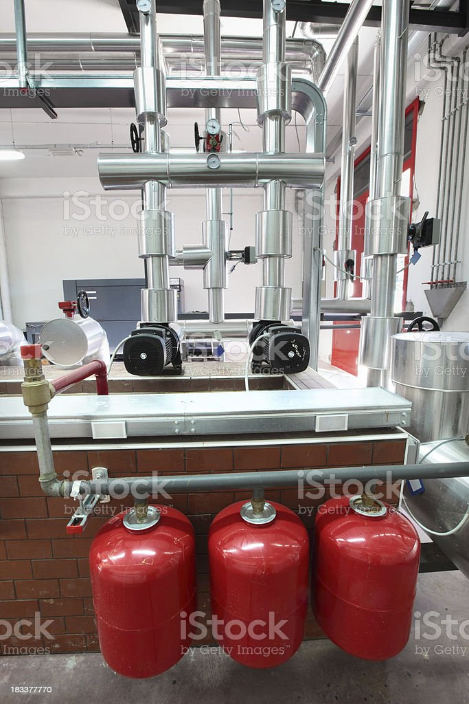 Heating system royalty-free stock photo
