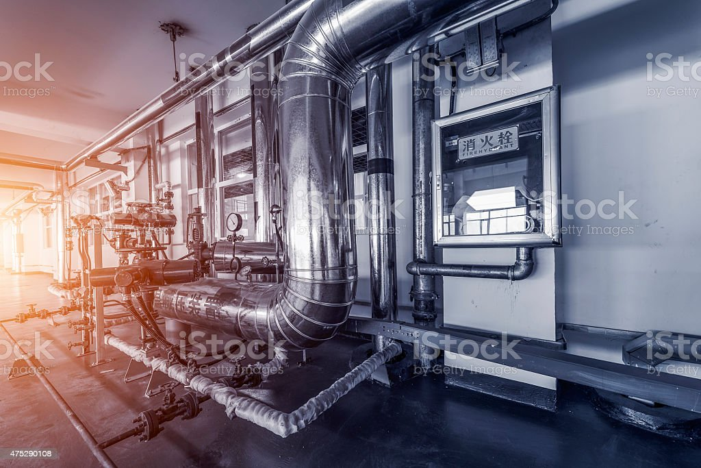 heating system. stock photo