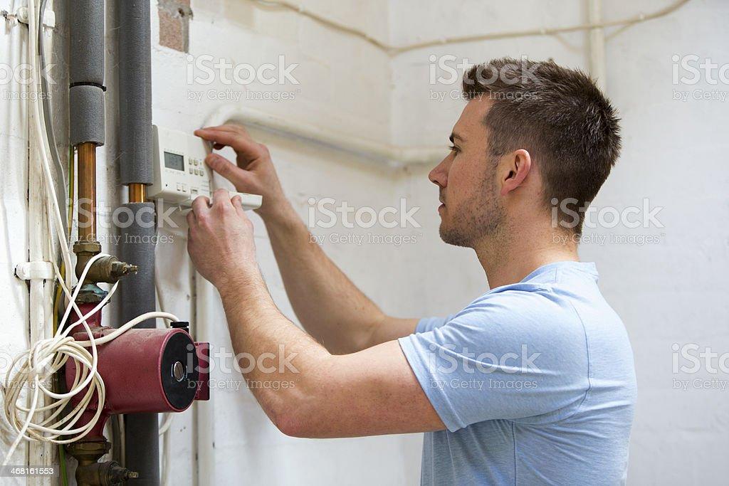 Heating System Repairs stock photo