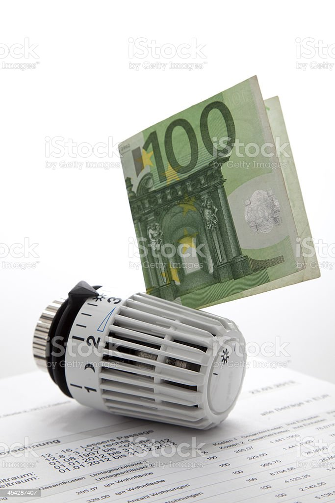 heating thermostat stock photo