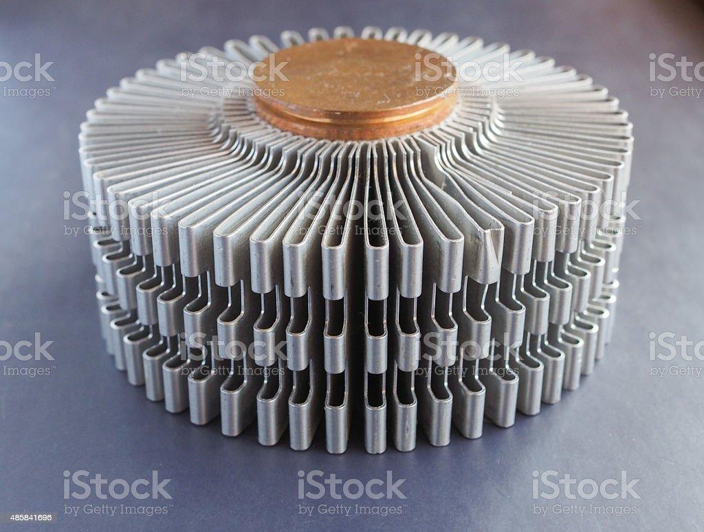 PC heatsink stock photo
