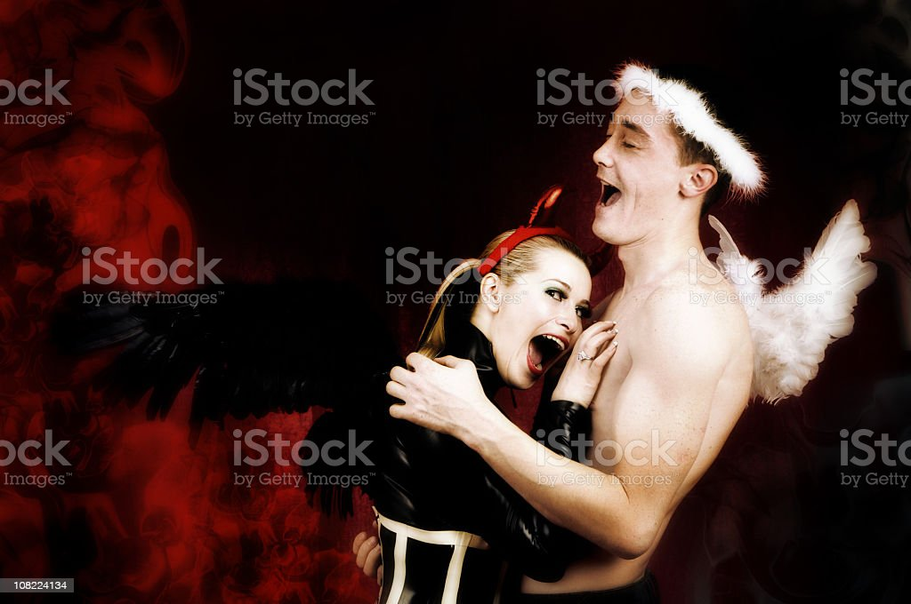 heavean and hell royalty-free stock photo