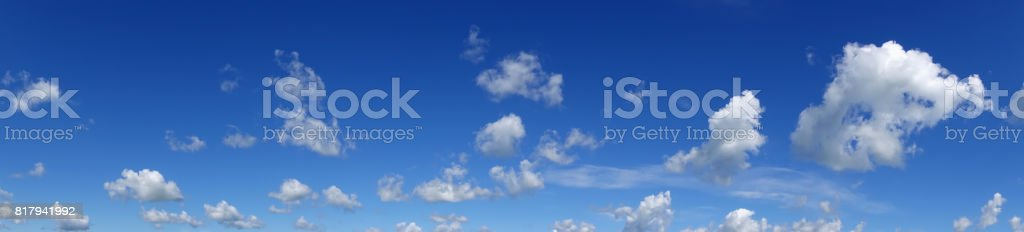 Heaven, beautiful blue sky with clouds. stock photo