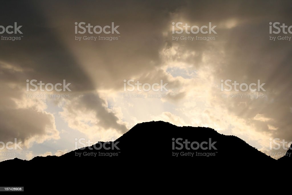 Heaven Behind the Mountain royalty-free stock photo